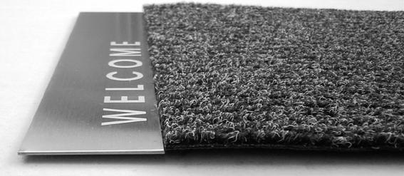 artikel design fu matte welcome edelstahl schmitt. Black Bedroom Furniture Sets. Home Design Ideas