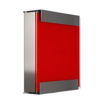 keilbach Design Briefkasten glasnost glass red Edelstahl
