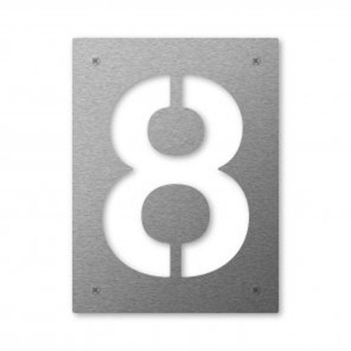 Design Hausnummer 8 Edelstahl