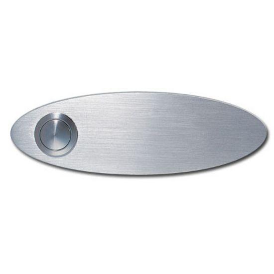 Serafini Klingelschild oval Edelstahl