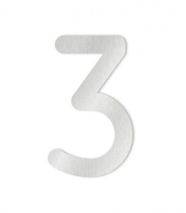 Heibi Hausnummer selbstklebend 0-9 Edelstahl COLU