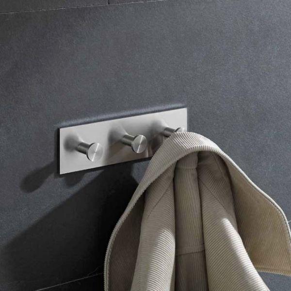 Design Garderobenleiste Edelstahl HLH