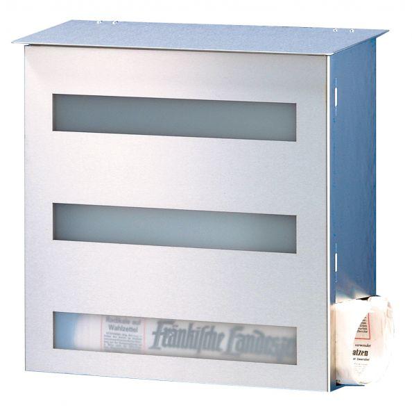 heibi design briefkasten edelstahl gecco mit zeitungsfach schmitt smartes wohnen. Black Bedroom Furniture Sets. Home Design Ideas