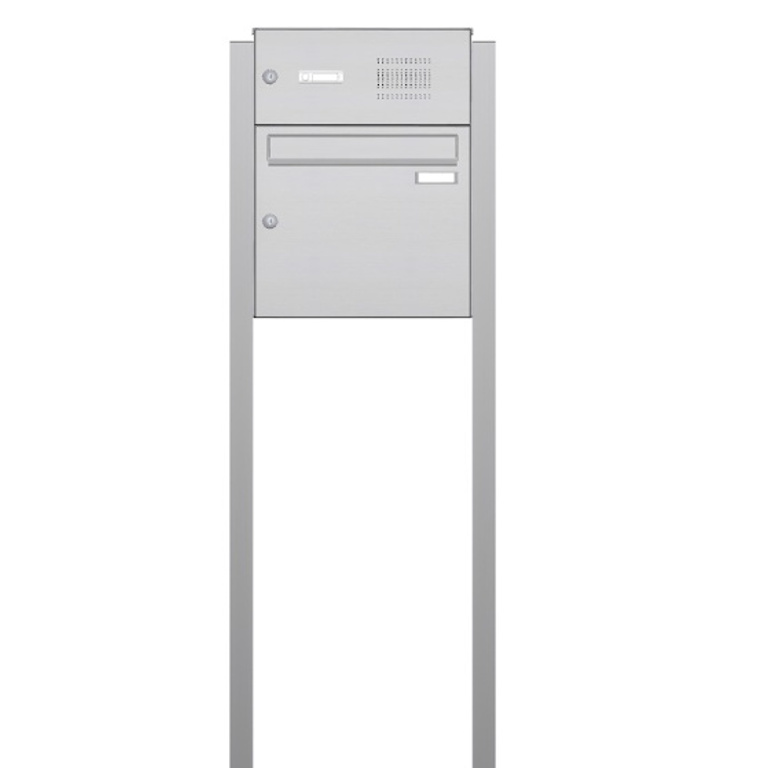 Briefkasten freistehend mit Klingel Edelstahl SMK3