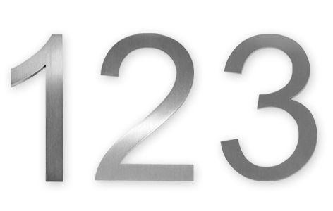 Knobloch Hausnummer Burns Edelstahl 123