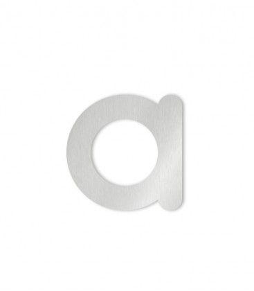 Heibi Hausbuchstabe selbstklebend a-d klein Edelstahl COLU