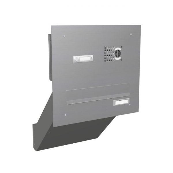 mauerdurchwurf briefkasten mit kamera edelstahl mev schmitt smartes wohnen. Black Bedroom Furniture Sets. Home Design Ideas