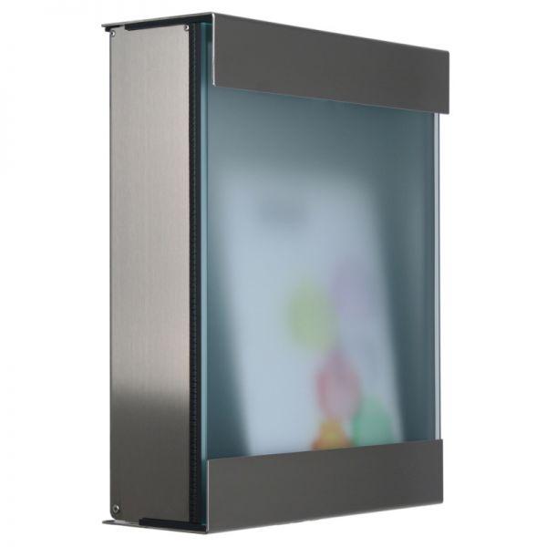 keilbach Design Briefkasten glasnost glass 360 Edelstahl