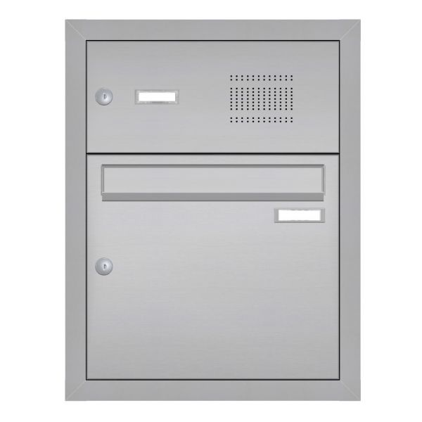 Unterputz Briefkasten Edelstahl mit Klingel