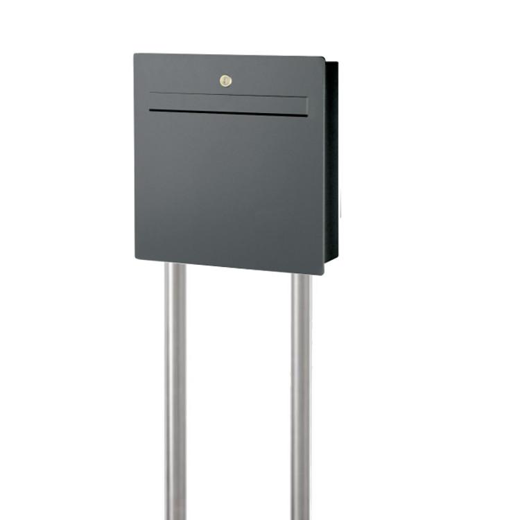 halux2 briefkasten freistehend mit zeitungsfach anthrazit schmitt smartes wohnen. Black Bedroom Furniture Sets. Home Design Ideas