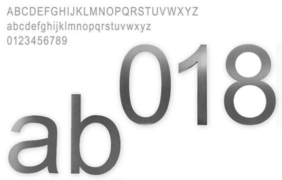 Knobloch Hausbuchstaben a-h klein Edelstahl