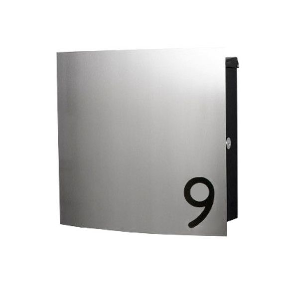 Design Edelstahl Briefkasten mit Hausnummer | schmitt - smartes wohnen