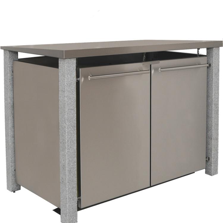 mb15 2er m lltonnenbox granit edelstahl 120 240 liter schmitt smartes wohnen. Black Bedroom Furniture Sets. Home Design Ideas