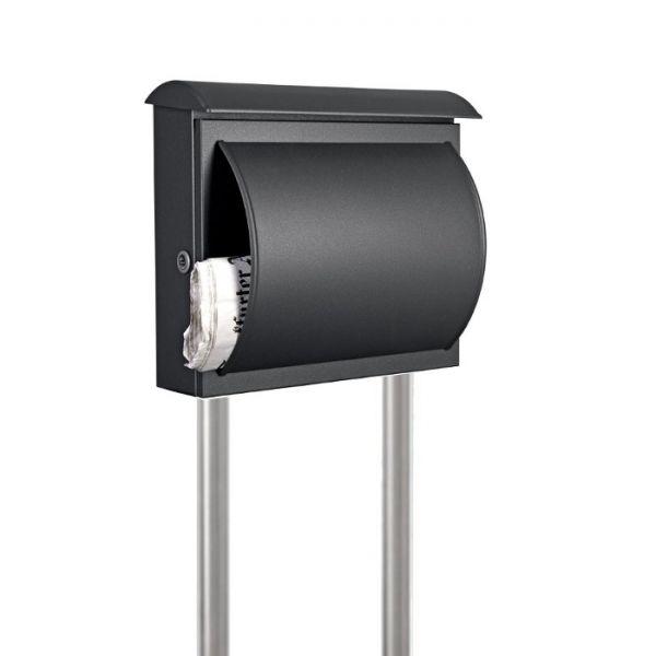 standbriefkasten mit zeitungsfach anthrazit se4 schmitt. Black Bedroom Furniture Sets. Home Design Ideas