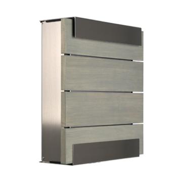 keilbach Design Briefkasten glasnost wood grey Edelstahl | schmitt ...