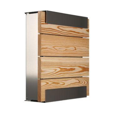 keilbach Design Briefkasten glasnost wood larch Edelstahl