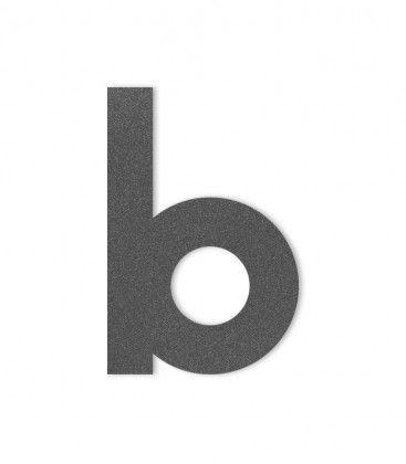 Hausbuchstabe b Grafitgrau DB703 H4