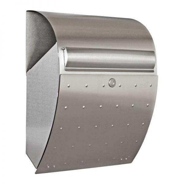 Design Briefkasten mit Zeitungsfach Edelstahl B5