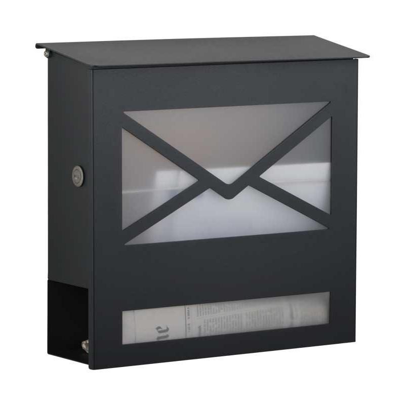 heibi briefkasten mit zeitungsfach anthrazit letter5. Black Bedroom Furniture Sets. Home Design Ideas