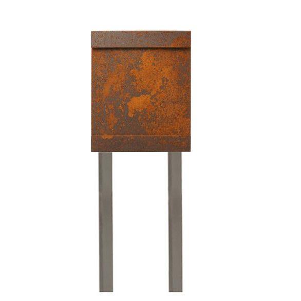 Design Standbriefkasten IRON korrodierter Stahl