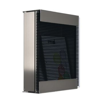 keilbach Design Briefkasten glasnost glass black stripes Edelstahl