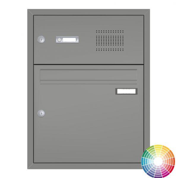 Unterputz Briefkasten mit Klingel UP21 grau