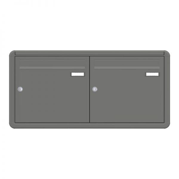 2er Unterputz Briefkasten nebeneinander graualuminium