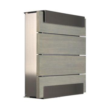 keilbach Design Briefkasten glasnost wood grey Edelstahl