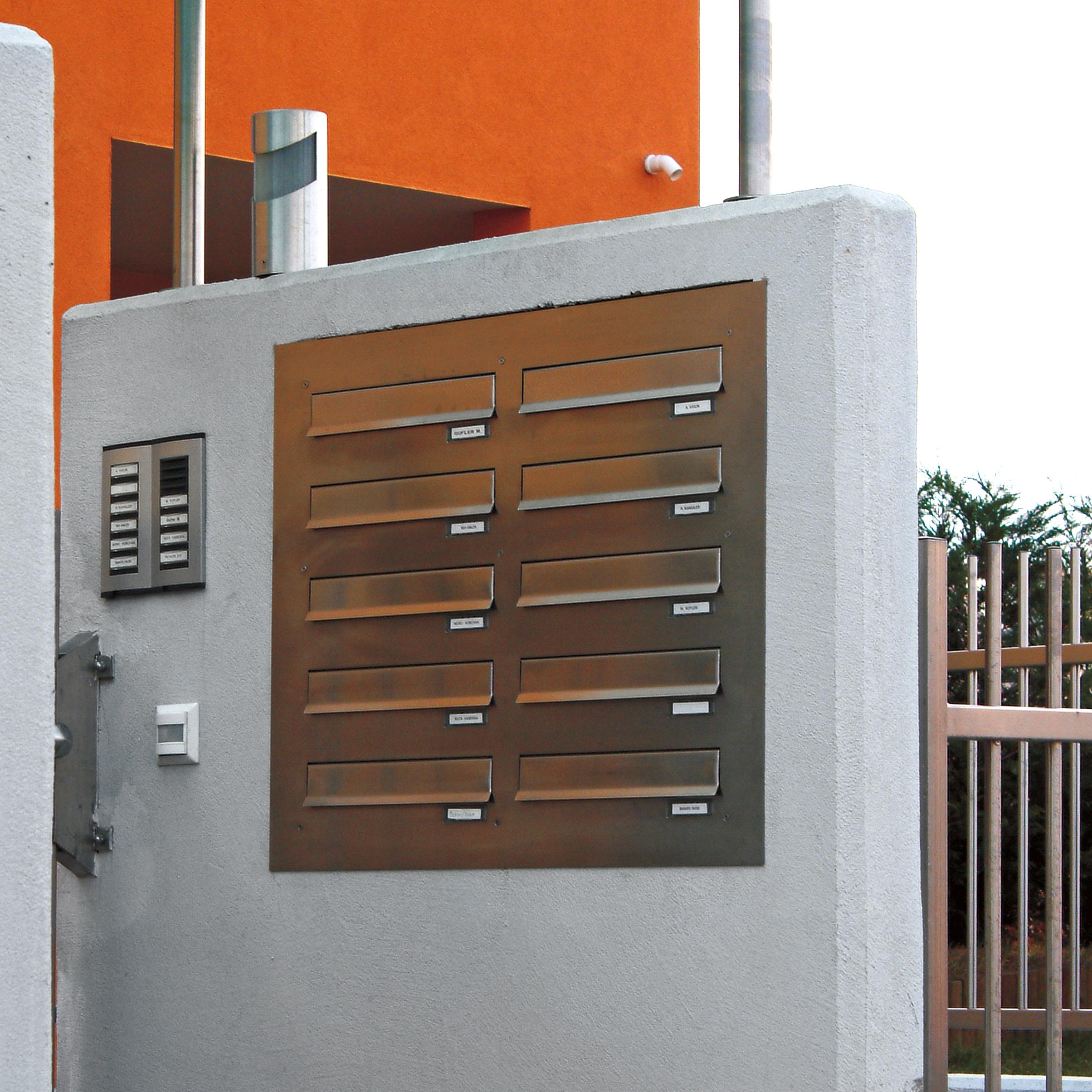 knobloch mauerdurchwurf briefkasten edelstahl schmitt smartes wohnen. Black Bedroom Furniture Sets. Home Design Ideas