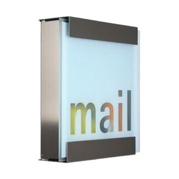 keilbach Design Briefkasten glasnost glass mail Edelstahl