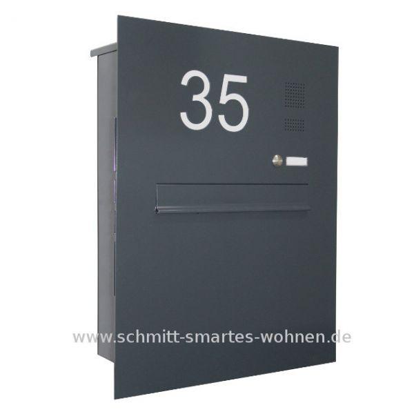 Z8 Zaunbriefkasten mit Klingel + Hausnummer