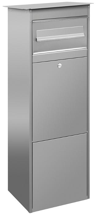 paketkasten jasper edelstahl mit briefkasten schmitt smartes wohnen. Black Bedroom Furniture Sets. Home Design Ideas
