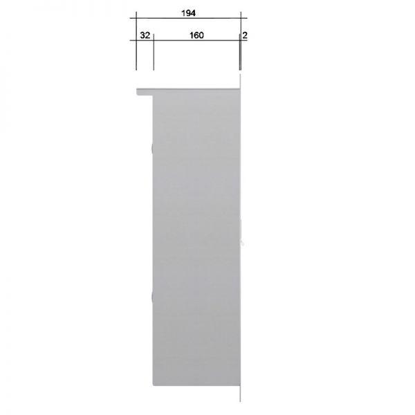 Z3 Zaunbriefkasten mit Klingel + Hausnummer