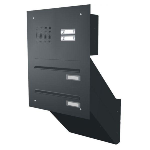 knobloch mauerdurchwurf briefkasten mit klingel mk1 schmitt smartes wohnen. Black Bedroom Furniture Sets. Home Design Ideas