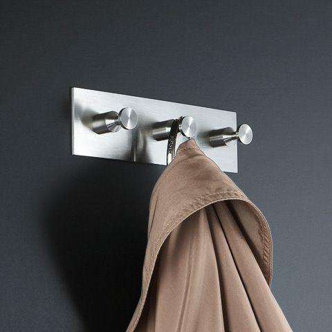 Garderobenleiste Kleiderhakenleiste Edelstahl HL