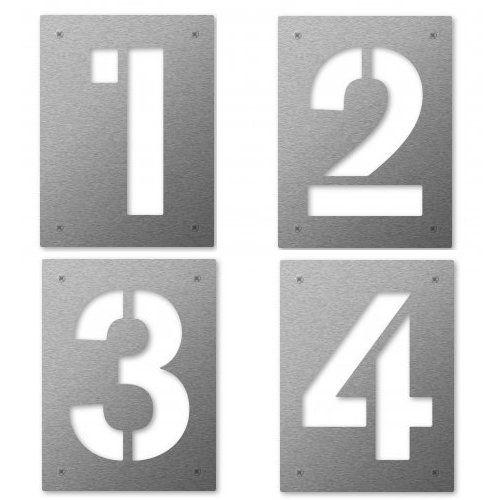 "keilbach Design Hausnummer Edelstahl ""cut"" 1234"