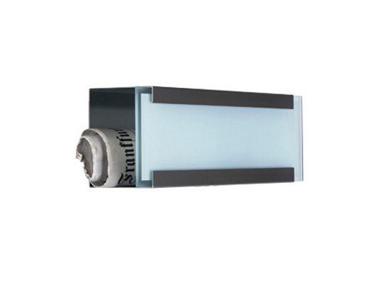 keilbach Design Zeitungsrolle newsbox glass white Edelstahl