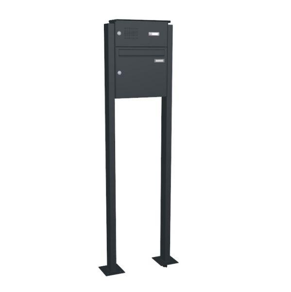 standbriefkasten mit klingel smk in anthrazitgrau graualuminium wei schmitt smartes wohnen. Black Bedroom Furniture Sets. Home Design Ideas