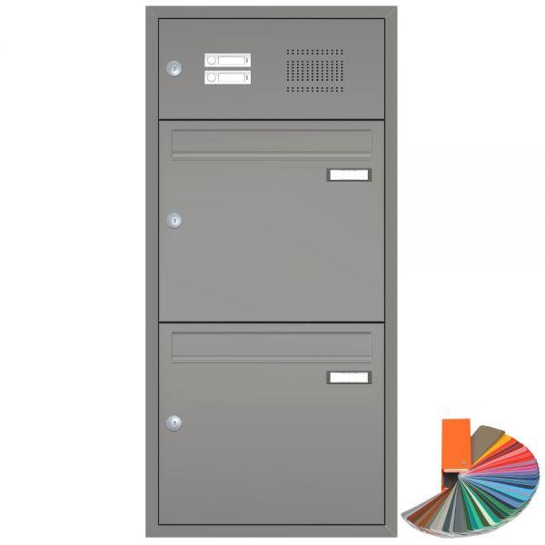 2er Unterputz Briefkasten mit Klingel UP22