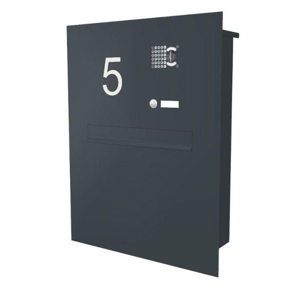 Z13 Zaunbriefkasten mit Kamera + Hausnummer