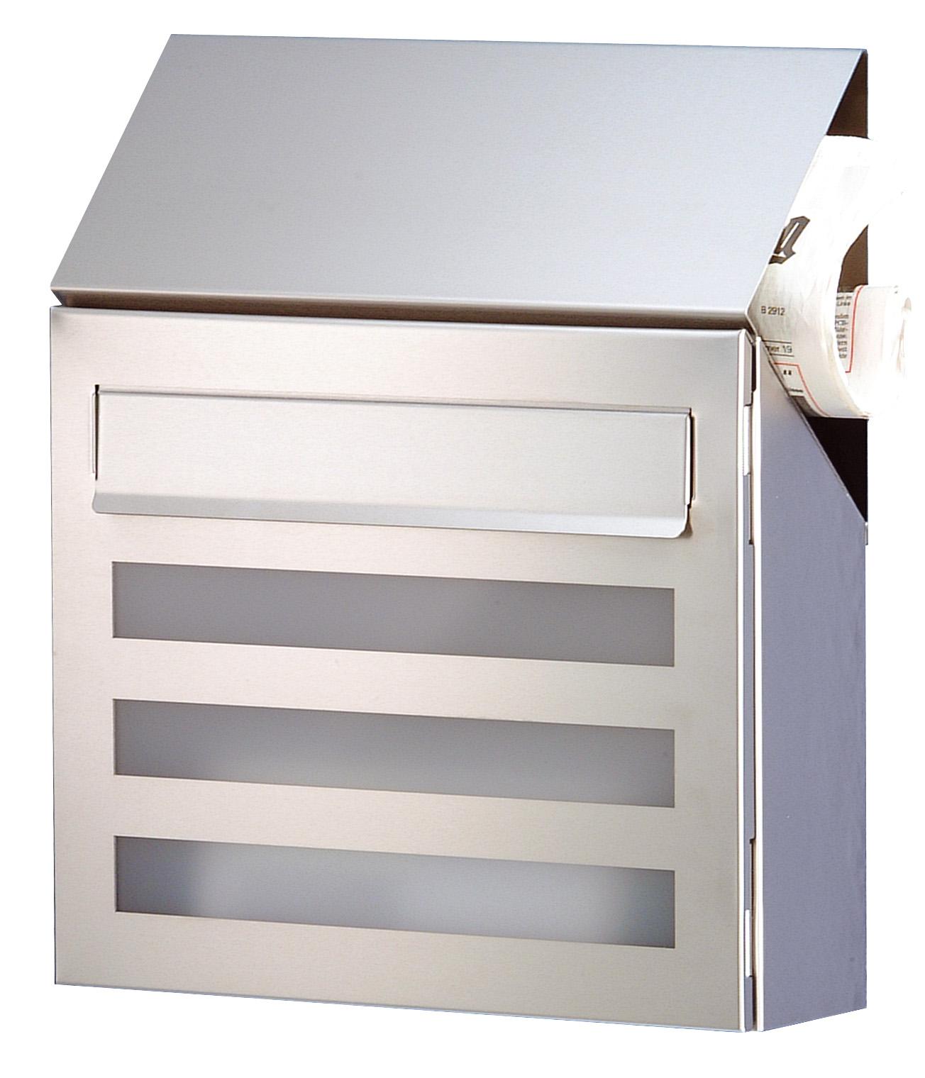heibi design briefkasten edelstahl terno mit zeitungsfach schmitt smartes wohnen. Black Bedroom Furniture Sets. Home Design Ideas