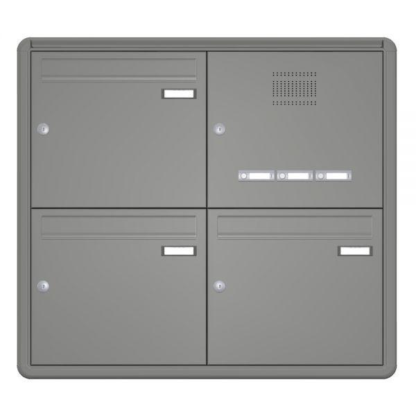 3er Unterputz Briefkasten mit Klingel & Sprechanlage up11