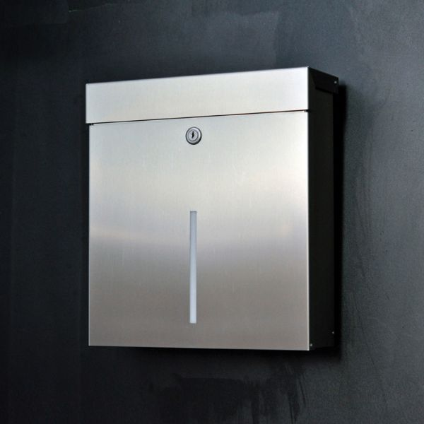 Design Briefkasten Edelstahl Mailbox