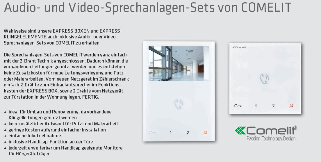 Comelit-Video-Sprechanlagen-Set1