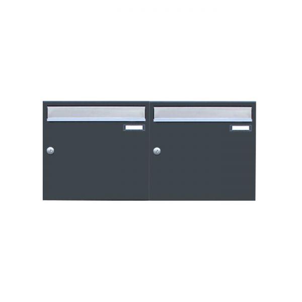 Design Doppel Briefkasten anthrazit RAL7016