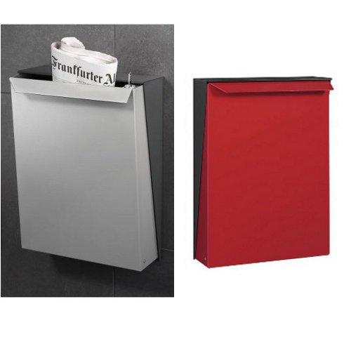 serafini design briefkasten s box edelstahl wei schwarz rot online kaufen schmitt smartes. Black Bedroom Furniture Sets. Home Design Ideas