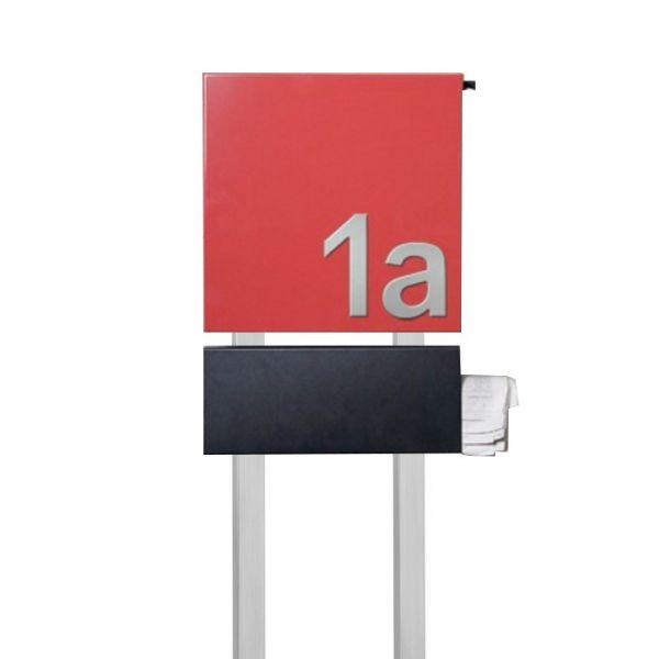 Design Standbriefkasten mit Hausnummer SE3
