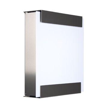 keilbach Design Briefkasten glasnost white Edelstahl