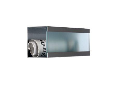 keilbach Design Zeitungsrolle newsbox glass 360 Edelstahl