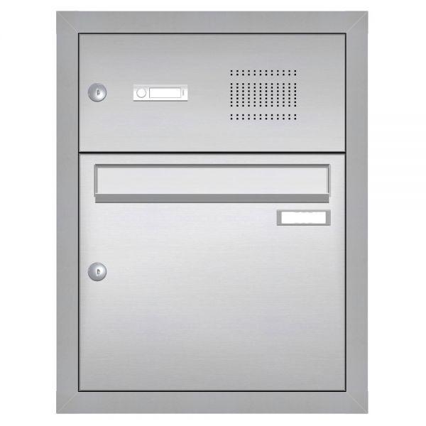Edelstahl Unterputz Briefkasten mit Klingel UP22E